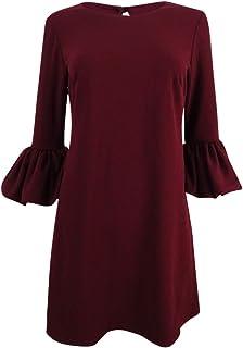 Betsy & Adam Women's Petite Bell Sleeve A-Line Mini Dress