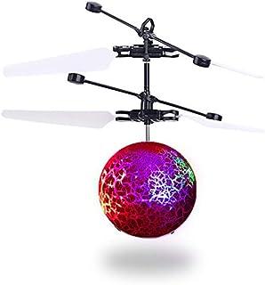 ★★Nueva resistencia de suspensión de avión inteligente sensor extraño nuevo feliz para cargar puestos de juguete suministro cuadrado Sensor infrarrojo eléctrico Bola voladora Pájaros felices★★ rosa Artículos educativos