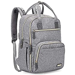 professional Diaper backpack, iniuniu large unisex baby bag multifunctional travel backpack for moms and dads …