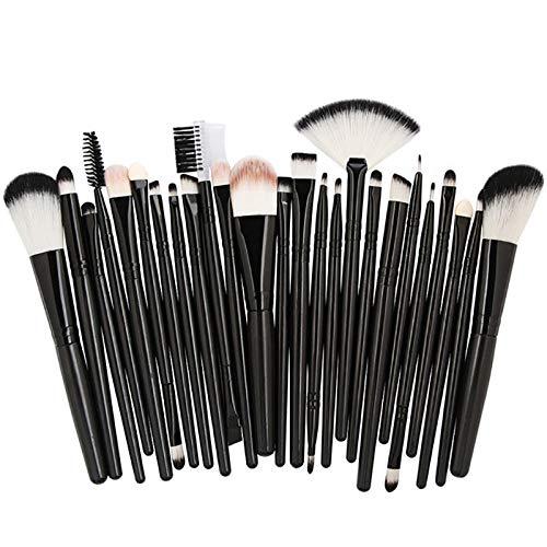 Pinceles de maquillaje 25 pcs/Set Beauty Foundation Powder Blush Eyeshadow Brow Lash Fan Lip Face Cosmetics Soft Synthetic Hair Tool Kit-negro
