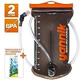 YANNIK Système d'Hydratation 2L avec Valve à Morsure + Kit de Nettoyage | Bulle d'eau en TPU | sans BPA | Sac Réservoirs d'Hydratation Antibactérien Étanche