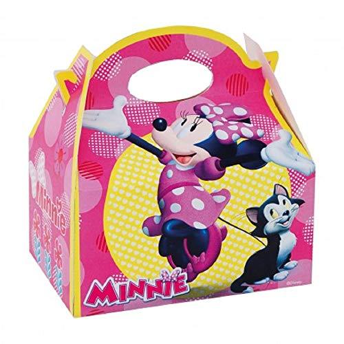 ALMACENESADAN 0660, Pack 4 cajitas de Carton para chuches Disney Minnie Mouse, para Fiestas y cumpleaños