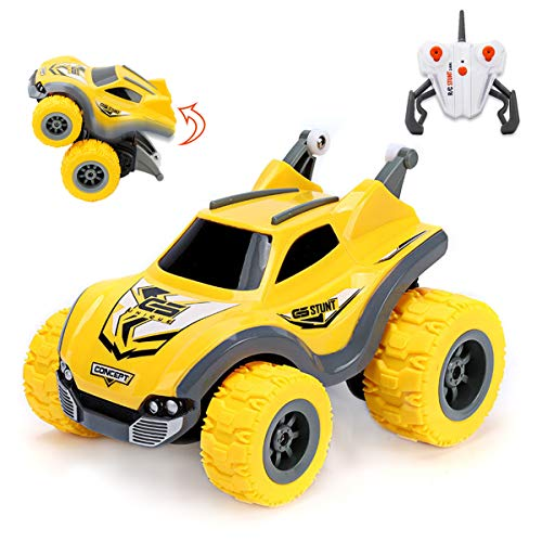 Easter Gifts for Kids, Easter Toys Mini Remote Control Car for Boys and Girls, 360 Degrees/Standing/Skidding Walk Stunt Rotations RC Rambler, 2.4Ghz 4WD Toy Car with Rechargeable Battery