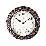 AIOJY Reloj De Pared, Jardín De Estilo Europeo De 14 Pulgadas Termómetro De Ratán Negro Mute Moderno Ornamentos Creativos Dormitorio Salón