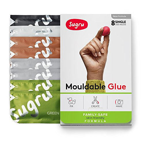 Sugru Moldable Glue - Family-Safe - All-Purpose Adhesive, Suitable for Children - Holds up to 4.4 lb - Natural Colors 8-Pack