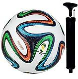 ISHA 1 PU Football With Pump, Size 5, (Multicolour)