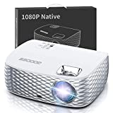 Projector, GooDee BL98 Native 1080P HD Video Projector 7500L, Touch Keys Home Theater Projector with 50,000 Hrs Lamp Life, Compatible with Fire TV Stick, PS4, HDMI, VGA, AV and USB