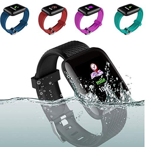 Bravet Smart Watch, Waterproof Fitness Activity Tracker with Heart Rate Monitor, Wearable Oxygen Blood Pressure Wrist Watch, Bluetooth Running Tracker Sport Band