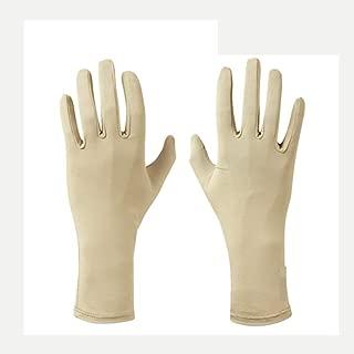 HXLG Glove Sun Protection Gloves Women's Thin Section UV Protection Outdoor Desert Walking Touch Screen Glove Biking Mitten (Color : Beige, Size : M)