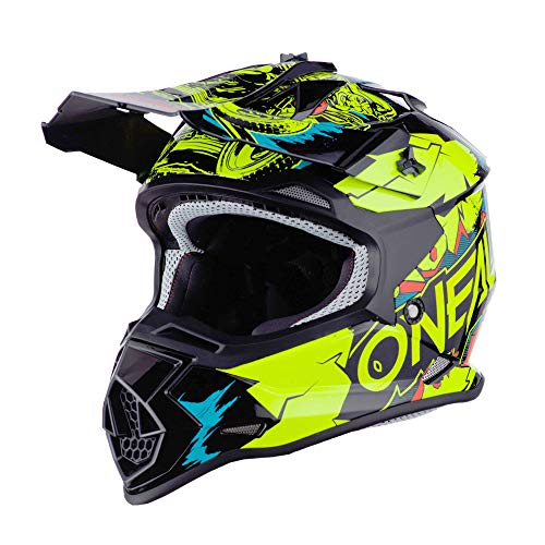 O'Neal 0200-463 2SRS Youth Helmet Villian, Neon...