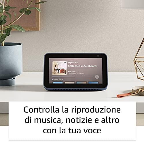 Nuovo Echo Show 5 (2ª generazione, modello 2021) | Schermo intelligente con Alexa e telecamera da 2 MP | Antracite