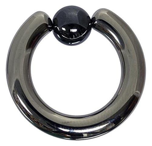 Klemmkugelring 4,0 x 12 mm aus Titan - Piercing BCR - Intimpiercing
