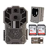 Stealth Cam Dual Sensor STC-DS4K Trail Camera (4K Video, 30 MP) with Security Box, 2 Memory Cards and Reader