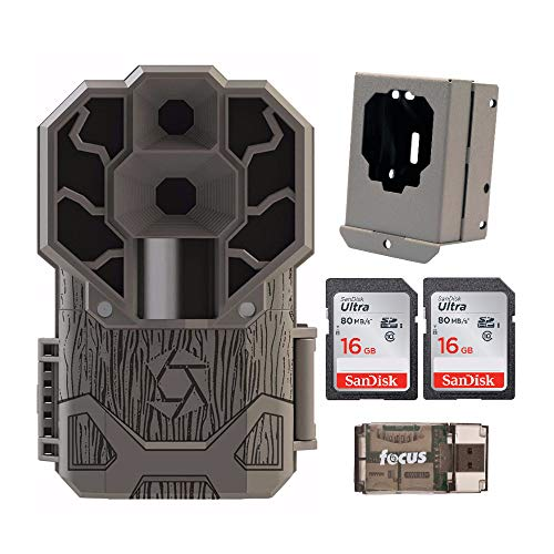 Stealth Cam Dual Sensor STC-DS4K Trail Camera (4K Video, 30 MP) with Security Box, 2 Memory Cards and Reader (5 Items)
