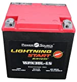 PowerSource 01-366P Lightning Start Red/Black 30Ah Battery