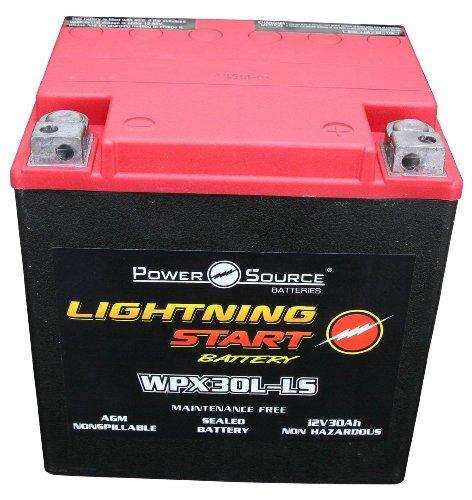 PowerSource 01-366P Lightning Start Red/Black 30Ah Battery