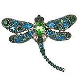 Mecool Broche de la Broche de la libélula Broche de aleación de Insecto Volador de aleación de Insectos de Cristal Imitado