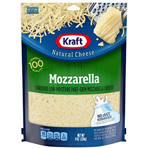 Kraft Natural Shredded Mozzarella Cheese (8 oz Bag)