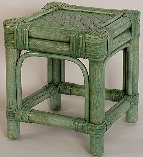Support/table d'appoint/tabouret en rotin vert