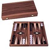 Manopoulos - Set per backgammon, 48 x 26 cm, in legno con pietre di perle