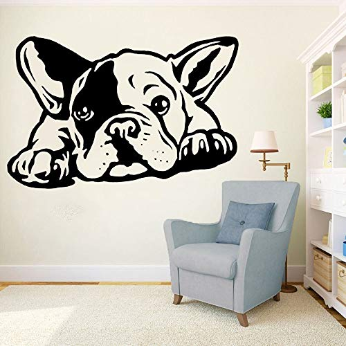 Vcnhln Calcomanía de Pared de Perro Bulldog francés Vinilo Sala de Estar decoración del hogar Pegatina de Pared autoadhesiva Moda Animal Dormitorio wallpaper86x57cm