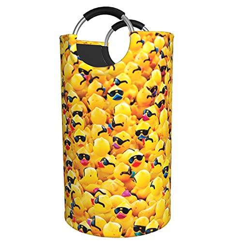 Sunmuchen Cesta de lavandería con gafas de sol, impermeable, grande, cesta organizadora para ropa, juguetes, dormitorio, baño, con asas de aluminio