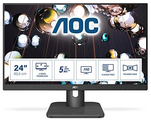 AOC 24E1Q 60,4 cm (23,8 Zoll) Monitor (HDMI, IPS Panel, 4ms Reaktionszeit, Displayport, 60Hz, 1920x1080) schwarz