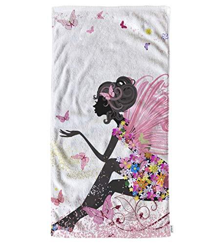 Toallas de Mano Rosas Toallitas de algodón, Flor de Hada niña con...