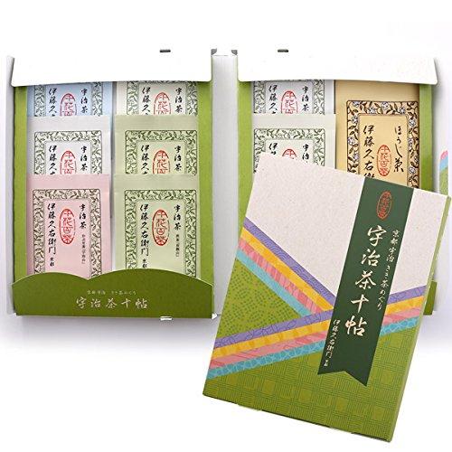 伊藤久右衛門 宇治茶 お茶 お試しセット 十帖 煎茶3種 玉露 玄米茶2種 かぶせ茶 かりがね2種 ほうじ茶