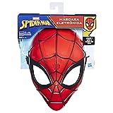 Frasi ed effetti sonori di Spider-Man Premi il pulsante e scuoti per sentire i suoni Indossa la vera maschera dell'eroe-ragno La fascia regolabile si adatta alla maggior parte delle teste