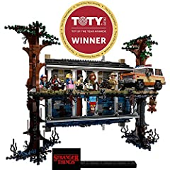 Build a LEGO Stranger Things Byers' house and The Upside Down from the global hit Netflix original series This Stranger Things merchandise includes 8 Stranger Things characters: Eleven, Mike Wheeler, Lucas Sinclair, Dustin Henderson, Will Byers, Joyc...