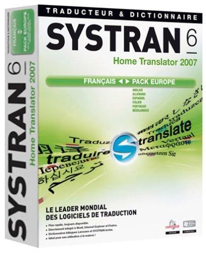 Systran V6 Home Translator 2007 Pack Francais - Europe