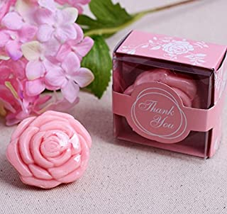 cute rabbit 24pcs Creative Rose Soap for Wedding & Baby Shower Favors- Pink