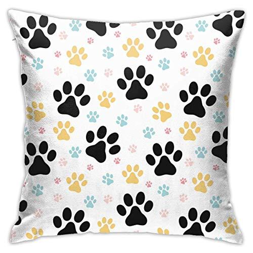 Fundas de almohada de impresión Pilloases almohada decorativa incorporada con cremallera oculta, fundas de almohada populares para dormir tamaño cuadrado 45 x 45 cm