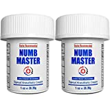 Numb Master 2 Pack 5% Lidocaine Topical Numbing Cream, Maximum Strength Long-Lasting Pain Relief, Fast Acting Topical Anesthetic Cream with Aloe Vera, Vitamin E, Lecithin with Child Resistant Cap