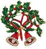 Adorno De Navidad Campanas De Navidad Con Diamantes Stereo Brooche Aleación Retro Bellas De Navidad Broche Día De Navidad Cuello De Regalo Pin Broche Joyería DIY Para La Decoración De La Oficina en ca