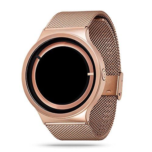 zhuolei ZIIIRO Eclipse Dream Concept Modische quaetz Bewegung Armbanduhr für Damen und Herren Offizielles Berechtigung, Rotgold