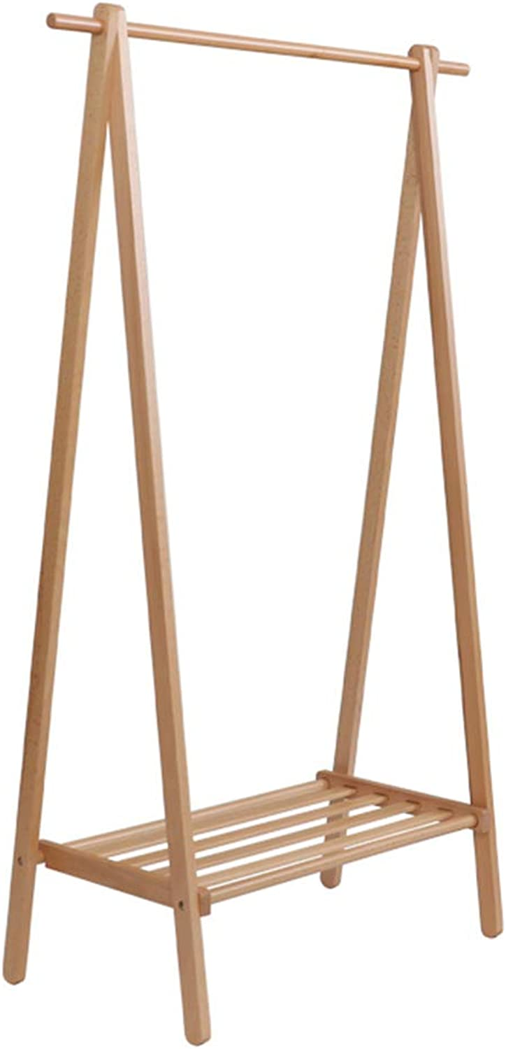 Feifei Coat Rack Solid Wood Floor-Standing Household Clothes Rack Simple Modern Creative Multi-Function Storage Rack, 2 Sizes (Size   80 cm)
