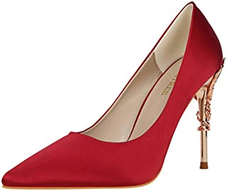 BalaMasa Womens APL12204 Low-Cut Uppers Huarache Pointed-Toe Red Pu Heeled Sandals - 4.5 UK (Lable:38)
