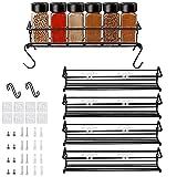 Especiero de cocina autoadhesivo – Estanterías metálicas para especias con...