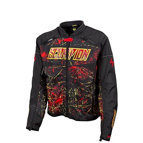 Scorpion Departed Men's Textile Sports Bike Racing Motorcycle Jacket, Black, Small