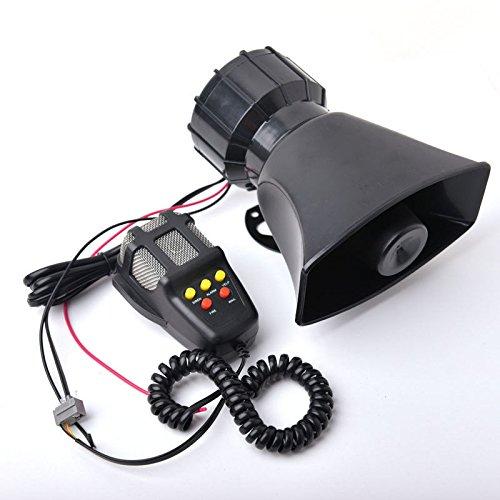 5tonos Sirena Policía Alarma cuerno 12V 100W coche motocicleta cinta megáfono Pa Sistema de altavoces + micrófono de 100W 300dB
