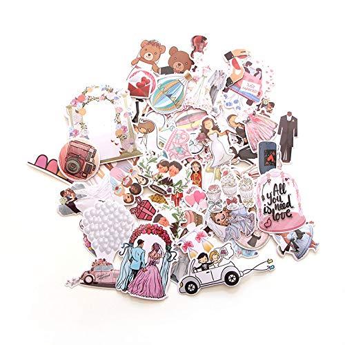 68 pegatinas creativas para decoración de boda, para manualidades, PC, pared, teléfono, álbum de álbumes de recortes (color B: B)