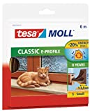 tesa 05463-00121-00 05463-00121-00-Burlete de Caucho Perfil Epara desajustes pequeños-6m x 9mm Marrón, Not_Applicable, 6 m 9 mm 4 mm
