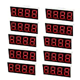 uxcell LEDデジタル表示管 12ピン 4ビット 7セグメント 50.3 x 19 x 8mm 10個入り