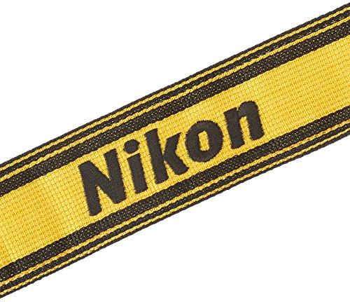 Nikonネックストラップ一眼レフ・ミラーレス用AN-6Yあみひも製ニコンロゴイエローAN6Y