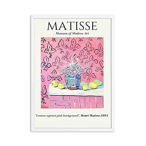 Vintage Henri Matisse carteles e impresiones retro paisaje abstracto muebles para el hogar sin marco pintura decorativa en lienzo D 15x20cm