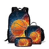 Juego de 3 bolsas escolares para niños con diseño de balón de fútbol Multicolor Set 28 medium