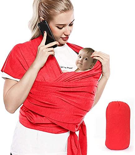 Bizcasa Fular Portabebés Elástico, Portador de Bebé, Wrap - Fular portabebés, Pañuelo de algodón, recién nacidos y bebés hasta 15 kg,...