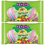 Brachs Tiny Jelly Bird Eggs Limited Edition Orchard Fruit Jelly Beans - 6 Assorted Flavors - Apple, Orange, Grape, Lemon, Cherry, and Strawberry - 14 oz Per Bag - Choose a 2, 4, or 6 Pack (2 Pack)